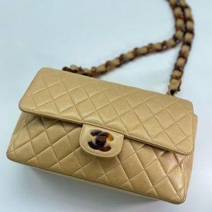 Vintage Chanel Lambskin Tortoise Single Flap Bag